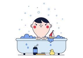 Vetor de banho de bebê grátis