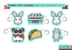 Chaveiros engraçadas free vector pack vol. 4