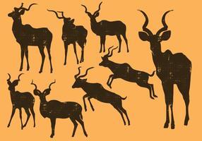 Silhueta de Kudu vetor