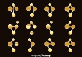 Conjunto de vetores de símbolos de nanotecnologia