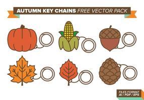 Outono chaveiro pacote de vetores grátis