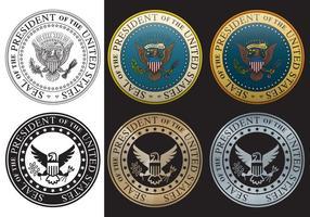 Selo presidencial vetor