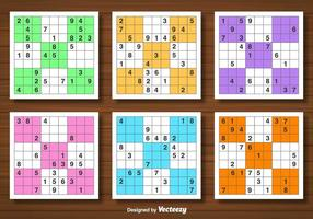 Conjunto de vetores do jogo de Sudoku