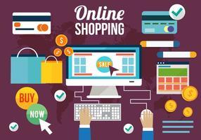 Elementos de compras grátis para compras vetor