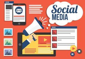Elementos vetoriais gratuitos de mídia social vetor