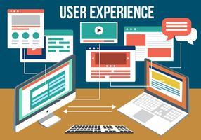 Experiência gratuita do usuário vetorial vetor