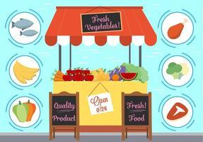 Alimentos e elementos de vetores gratuitos