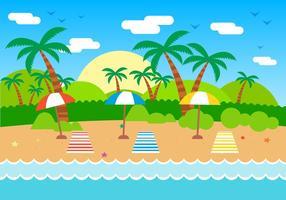 Ilustração vetorial grátis do verão vetor