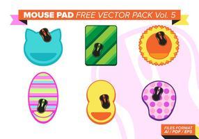 Mouse pad pacote de vetores grátis vol. 5