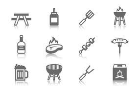 Vetor de ícones de churrasco grátis