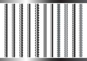 Sreel rebars set on white background vetor