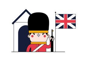 Vetor livre de guarda inglesa