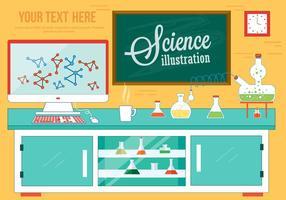 Vector de laboratório de ciência livre