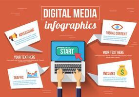Vector de mídia digital gratuito