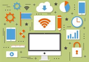 Elementos gratuitos de tecnologia de vetores e marketing