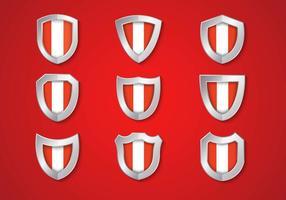 Bandeira livre do Peru em Shield Vector