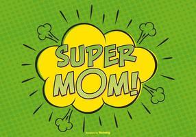 Comic super mom illutytration vetor