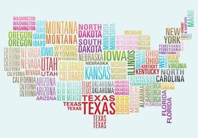 Mapa do Word do EUA