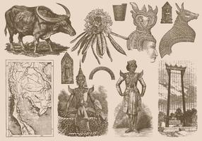 Desenhos da Tailândia vetor