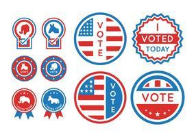 Conjunto de elementos de votação e eleição presidencial vetor