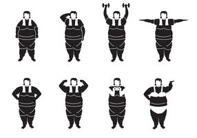 Vetor de mulher gorda grátis