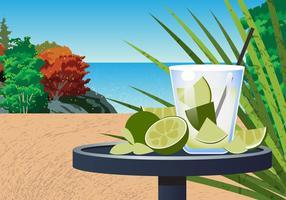 Cena da Praia Caipirinha vetor