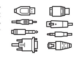 Ícones de conexão de conexão gratuita vetor