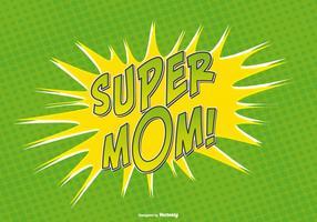 Ilustração de super mamãe comic style vetor