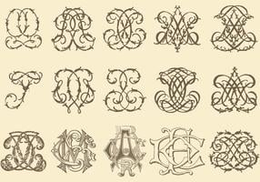 Monogramas antigos vetor
