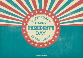 Ilustração retro do dia dos presidentes
