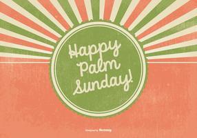 Ilustração retro feliz de palmeira de domingo vetor