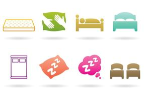 Logotipos de sono e cama