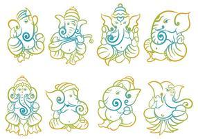 Vetor de ícones ganesh grátis