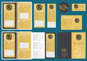 Modelos de menu dourado vetor