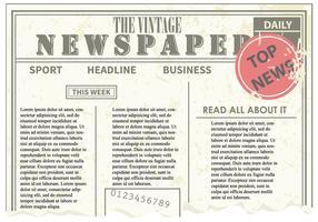 Vetor de jornal antigo