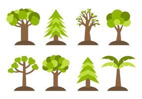 Vetor de ícones de árvores diferentes grátis