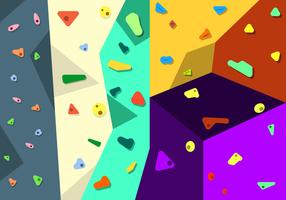 Vector de parede de escalada livre