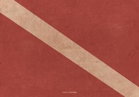 Bandeira de mergulho do grunge