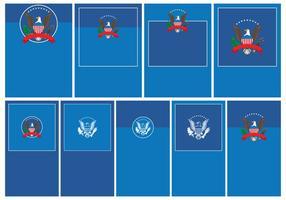 Conjunto de modelos do presidente sello vetor