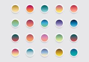 Vetor de ícones de gradiente linear arredondado grátis