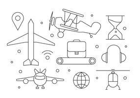 Ícones de avião grátis vetor