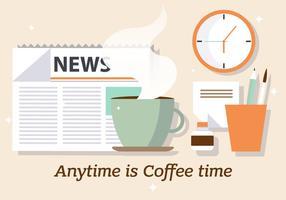 Free Coffee News Ilustração vetorial vetor