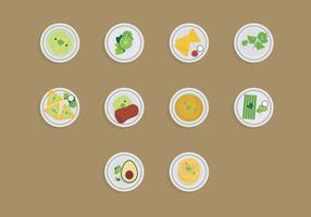 Comida com Cilantro Icon Set