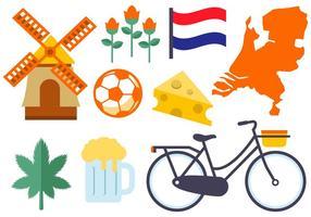 Vetor de ícones de netherland grátis