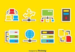 Vector de ícones da rede de computadores