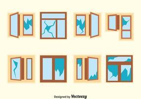 Jogo de vetor de janela quebrado