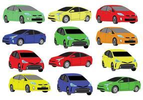Ícones de cores Prius grátis vetor