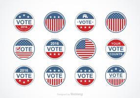 Conjunto de vetores do selo presidencial