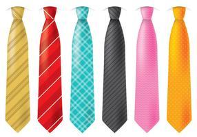 Gravatas coloridas vetor