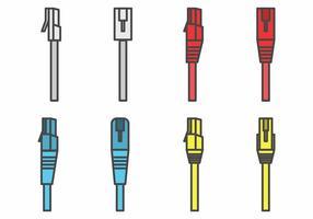 Conjunto de conectores Flat RJ45
